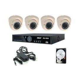 Ness Premium Hd-Sdi 4ch Cctv Varifocal Ir Cameras Kit